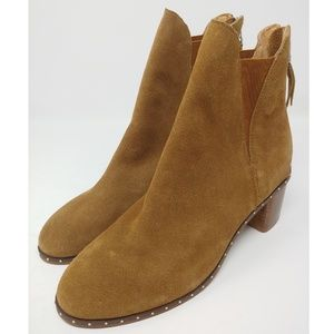 New TOPSHOP Suede Studded Miranda Boots size 7.5